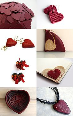 Burgundy Valentine hearts by Stefanie on Etsy--Pinned with TreasuryPin.com