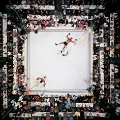 Muhammad Ali vs. Cleveland Williams Houston Astrodome (80ft above the ring) 1966 Photo: Neil Leifer This is often regarded as one of the greatest sports photographs of the 20th century and is Leifer's favourite photograph of his 40 year career.