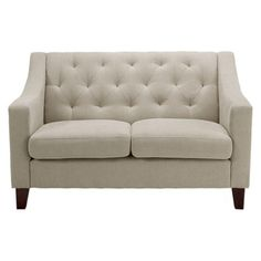 two of these, the chair and our accent leather chair? Tufted Loveseat
