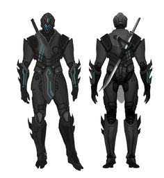 Infinity Blade Ninja, Bert Lewis on ArtStation at… Ninja Armor, Sci Fi Armor, Armor Concept, Weapon Concept Art, Fantasy Character Design, Character Concept, Cyber Ninja, Space Opera, Arte Ninja