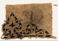 Egypt (find spot) Fustat (find spot) Near East (place of creation) Date 10th - 15th century AD Material and techniquepossibly linen, with...