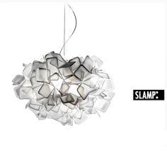 Designer-Pendelleuchte CLIZIA von SLAMP - Ø53cm - Design by Adriano Rachele - aus farbigen Opalflex® - in weiß weiß