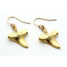 Amity shark tooth earrings
