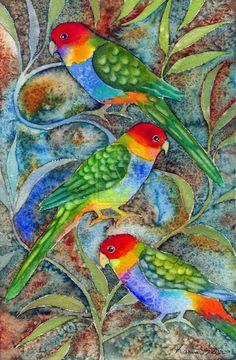 Rainbow Parrots 2 by karincharlotte on deviantART