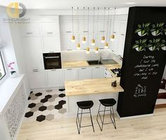 Browse photos of Small kitchen designs. Discover inspiration for your Small kitchen remodel or upgrade with ideas for organization, layout and decor. Apartment Kitchen, Home Decor Kitchen, Interior Design Kitchen, New Kitchen, Home Kitchens, Kitchen Black, Kitchen Ideas, Kitchen Small, Kitchen Modern