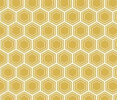 bamboo honeycomb fabric by amybethunephotography on Spoonflower - custom fabric