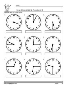 Telling-Time-To-Quarter-Hour-Worksheets. Telling time to the quarter hour worksheets, clock worksheets, learn to tell the time, grade math worksheets Time Worksheets Grade 2, Clock Worksheets, Math Practice Worksheets, School Worksheets, Math Resources, Coloring Worksheets, Telling Time Activities, Teaching Time, Telling Time Worksheet