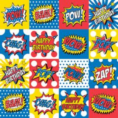 For the little superheroes in our lives, there's Pow Zap Bam giftwrap! #Superhero #Comicbook #Paper