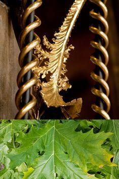 En la part central dels fanals dobles que flanquegen la porta de la sala dels passos perduts Plant Leaves, Step By Step, Spring, Architecture, Fine Art Paintings, Plant