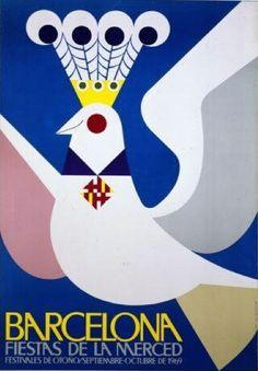 By Josep Artigas (1919-1992), Barcelona Fiestas de la Merced, Festivales de Otoño/septiembre-octubre de 1969. (Spain)