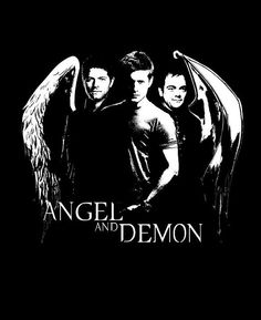 Cas, Dean and Crowley ~ Supernatural ~ Angel and Demon Tshirt by HLstore on Etsy