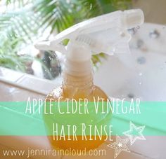 Apple Cider Vinegar Rinse ~ Read about benefits ~  1/2 cup Apple Cider Vinegar 1/2 cup Water 3 drops Lavender Essential Oil 3 drops Rosemary Essential Oil.  Been using AppleCider Vinegar for a year now, and love it!
