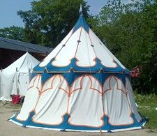Scroll down and click thru for article on painting tents.