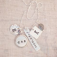 Push present!  dinah - personalized charm necklace - Three Sisters Jewelry Design