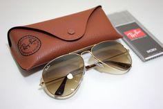 c81c8bcfe7 New Ray-Ban Sunglasses Aviator Gold Frame Brown Gradient Lens
