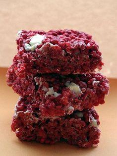 Red Velvet Rice Krispie Treats
