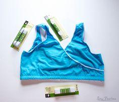 DIY Nursing Sleep Bras + how to sew lingerie elastic