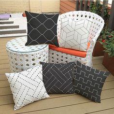 Woven cusion striped style print decorative pillows cushion emoji pillow for home decor - UrbanLifeShop