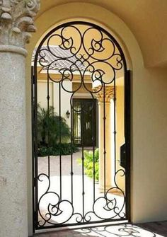 Courtyard Handtrail-58 - Wrought Iron Doors, Windows, Gates, & Railings from Cantera Doors