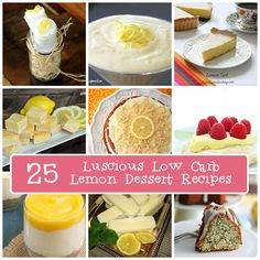 Best Low Carb Lemon Dessert Recipes | All Day I Dream About Food