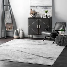 Latitude Run® Coinneach Abstract Gray Area Rug & Reviews | Wayfair Affordable Rugs, Contemporary Area Rugs, Modern Contemporary, Modern Design, Area Rug Sizes, Grey Flooring, Rugs Usa, Grey Rugs, At Home Store