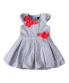 Another great find on #zulily! Gray Star Bubble Dress - Infant, Toddler & Girls by Sophie Catalou #zulilyfinds