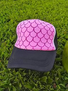 Mermaid scales trucker hat! Hand painted trucker hat! Fish scales snapback! Hand  painted e7b4a1db3dc6