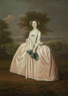 Mary du Cane, née Norris in Robe a la Francais by Arthur Devis ~ 1747-49