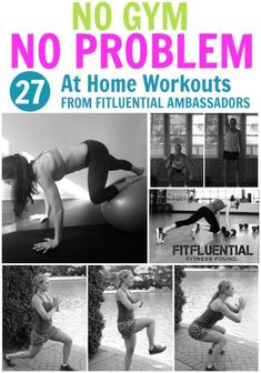 27 At Home Workouts that need little to no equipment! #Workout #Fitness