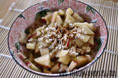 Vegalina ist auch zum ersten Mal dabei und ihr Frühstück muss ich morgen unbedingt nachmachen: Bananenmüsli - Vitamine pur!