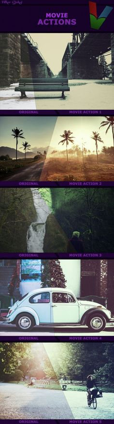 Movie Actions I — Photoshop ATN #filters #photography • Available here → https://graphicriver.net/item/movie-actions-i-/14528843?ref=pxcr