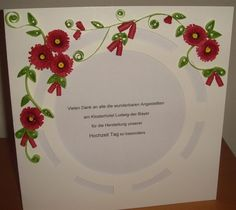 A card for the hotel staff (Quilled Wedding Thank You) Hotel Staff, Wedding Thank You, Quilling, I Card, Projects, Wedding, Bedspreads, Log Projects, Blue Prints