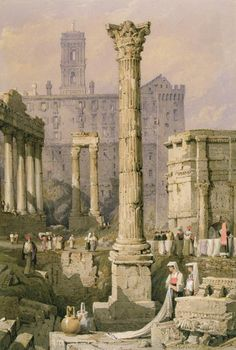 "rationalinquirer:  ""View of the Roman Forum,"" by Samuel Prout"