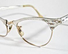 Copper cat eye glasses. vintage 1950s eyeglass combo frames w/