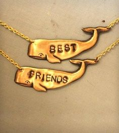 Brass Whale Best Friends Necklace - Set of 2 by I Adorn U on Scoutmob Shoppe
