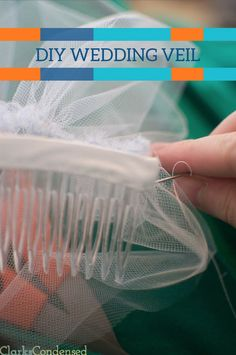 With this tutorial, you will learn how to make your own Simple DIY Wedding Veil. Customize it to be exactly what you want!