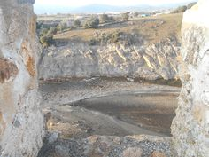 Rio Lozoya casi seco desde Adarve Bajo. Finales diciembre 2015