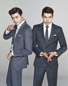 Lee Jong Suk and Kim Woo Bin