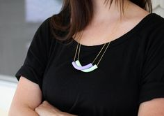 pick a color half moon necklaces by AMM jewelry