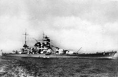 Линейный крейсер «Шарнхорст», 1939 год. Источник: Deutsches Bundesarchiv