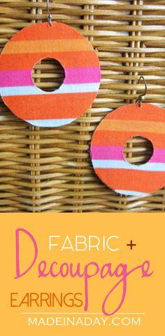 Fabric + Decoupage E