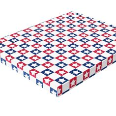 Red, White and Blue 4th of July Stars Pattern Stretched Canvas Prints
