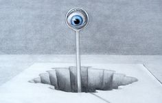 How to Draw a 3D Optical Illusion with Pencil - An Alien eye