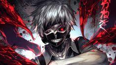 Tokyo Ghoul Kaneki Ken Mask White Hair Kagune Kawacy 1366x768