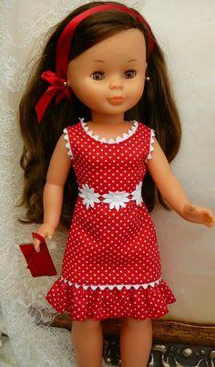 American Girl Clothes, Girl Doll Clothes, Girl Dolls, Girl Dress Patterns, Doll Clothes Patterns, Frocks For Girls, Girls Dresses, Vestidos Nancy, Ag Clothing