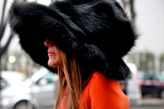 The inimitable Anna Dello Russo wearing Marc Jacobs FW12 hat during Milan Fashion Week