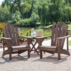 Coral Coast Adirondack Chair Set With FREE Side Table   Dark By Coral  Coast, Http