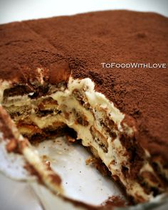 tiramisu - Delicious no bake italian dessert. If you've never had it before you must try it! Not being a chocolate lover, this is one of my favorite desserts (being a close 2nd to Creme Brûlée) This recipe looks to be the authentic Italian style so I may have to give it a try!