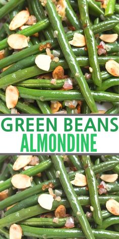 A simple, healthy side / Green Beans Almondine recipe! An easy healthy side dish recipe, perfect for a cr… Green Bean Almond Recipe! Healthy Side Dishes, Veggie Dishes, Side Dishes Easy, Side Dish Recipes, Food Dishes, Veggie Food, Green Beans With Almonds, Sauteed Green Beans, Green Beans And Shallots