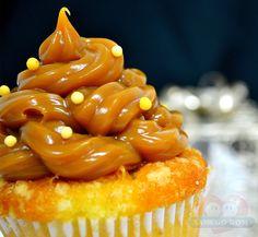 Receitas - Cup Cake de Fubá com Doce de Leite | Xamego Bom